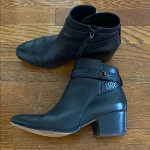 Coach Black Leather Booties 8.5